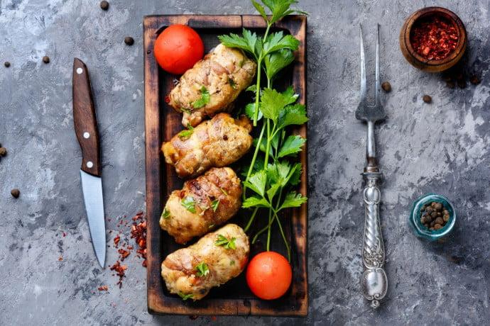 Mushroom Chicken Roll