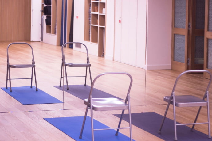 Seated chair pilates