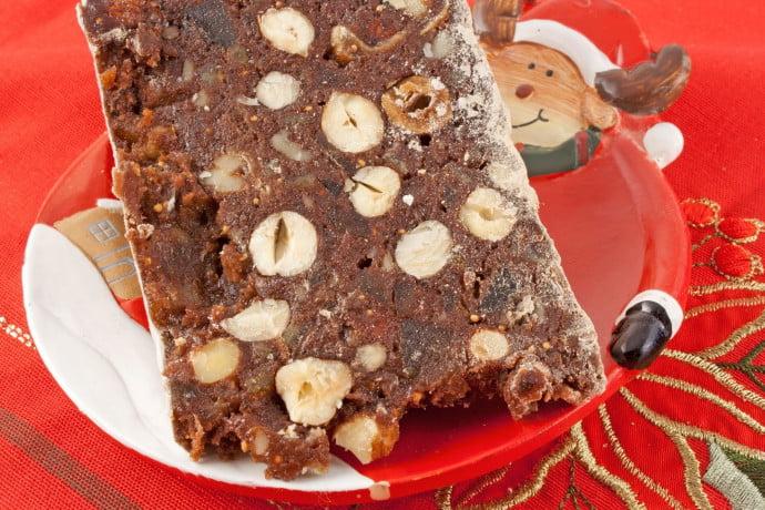 panpepato cake on a christmas table