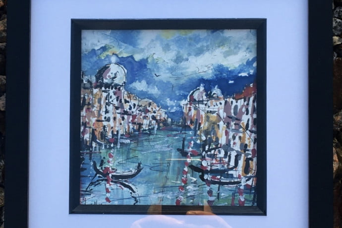 Mark Holden painting of Venice