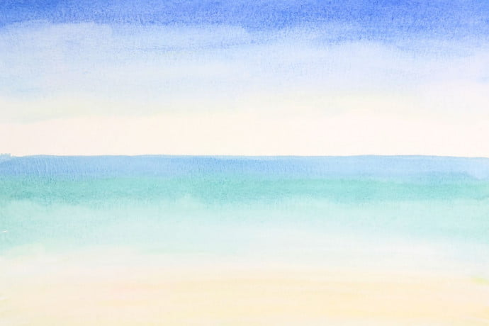 Water and sky painting